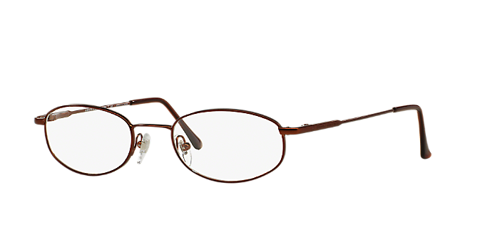 5251e7a2aa BB491  Shop Brooks Brothers Brown Tan Oval Eyeglasses at LensCrafters
