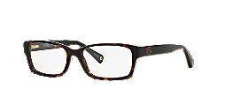 72f353e398e57 HC6040  Shop Coach Tortoise Rectangle Eyeglasses at LensCrafters