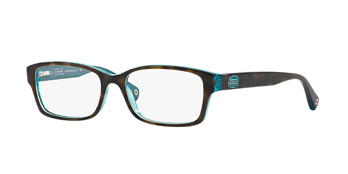 HC6040: Shop Coach Tortoise Rectangle Eyeglasses at LensCrafters