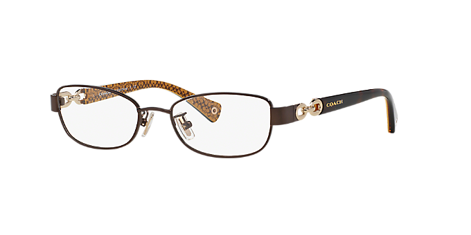 HC5054: Shop Coach Brown/Tan Butterfly Eyeglasses at LensCrafters