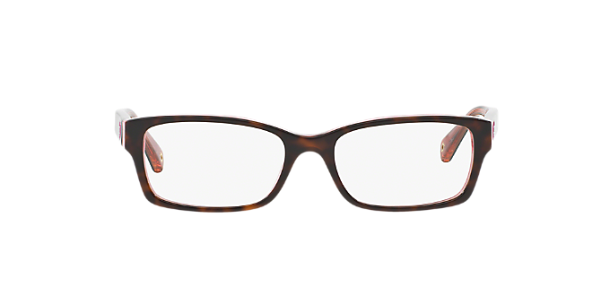 d5cc74423b HC6040  Shop Coach Tortoise Rectangle Eyeglasses at LensCrafters