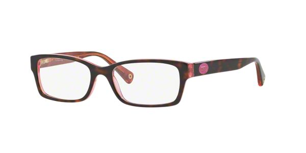9b8fe319dcf HC6040  Shop Coach Tortoise Rectangle Eyeglasses at LensCrafters