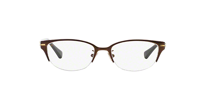 d29fc41aaf HC5058  Shop Coach Brown Tan Cat Eye Eyeglasses at LensCrafters