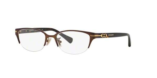 9ee7f74b32b HC5058  Shop Coach Brown Tan Cat Eye Eyeglasses at LensCrafters