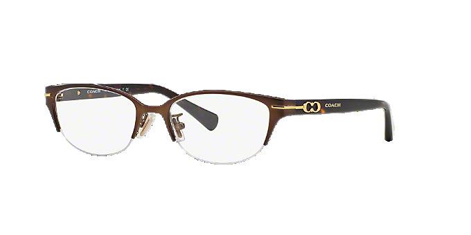HC5058: Shop Coach Brown/Tan Semi-Rimless Eyeglasses at LensCrafters