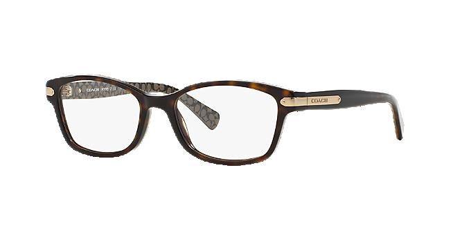 7a0faa8aae8 HC6065  Shop Coach Tortoise Rectangle Eyeglasses at LensCrafters