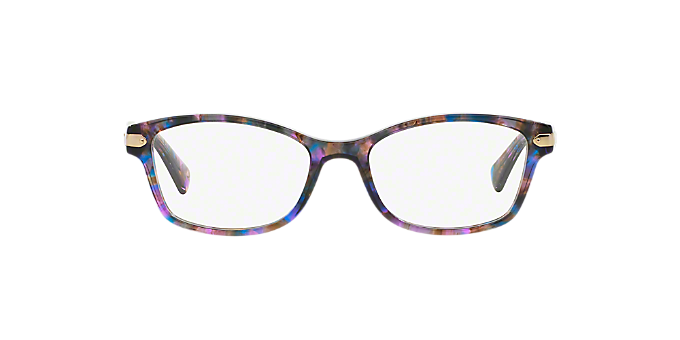 HC6065: Shop Coach Pink/Purple Rectangle Eyeglasses at LensCrafters