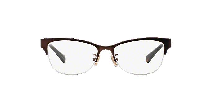 HC5066: Shop Coach Brown/Tan Semi-Rimless Eyeglasses at LensCrafters