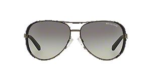 58843e6a3511 MK5004 59 CHELSEA: Shop Michael Kors Pink/Purple Pilot Sunglasses at ...