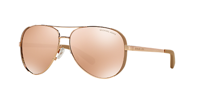 bd0350e11a8f3 MK5004 59 CHELSEA  Shop Michael Kors Pink Purple Pilot Sunglasses at ...