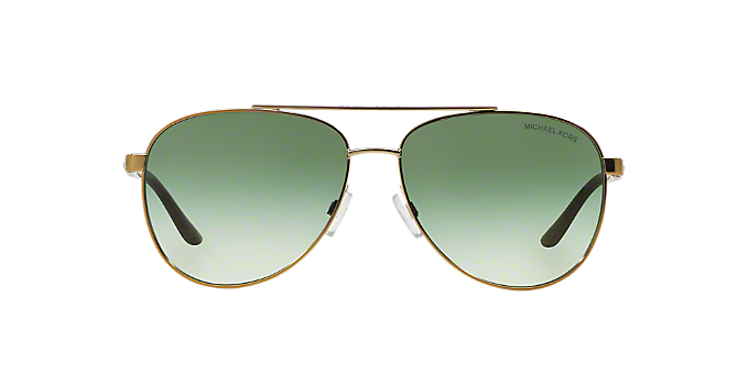 118ce5e498c MK5007 59 HVAR  Shop Michael Kors Gold Pilot Sunglasses at LensCrafters