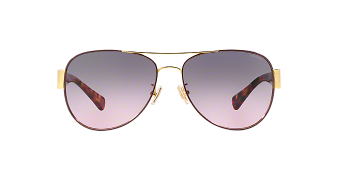 c9c769d6659f3 HC7059 58 L138  Shop Coach Gold Pilot Sunglasses at LensCrafters