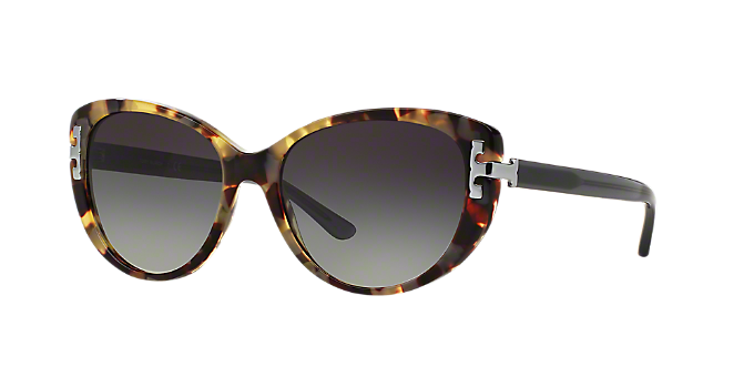 6f4721e37e2b TY7092 56: Shop Tory Burch Tortoise Cat Eye Sunglasses at LensCrafters