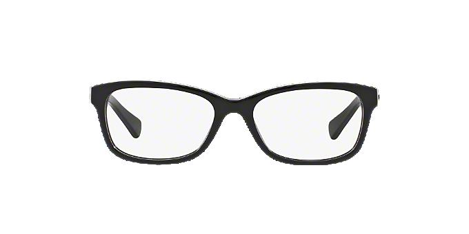 7fd475867c5 HC6089  Shop Coach Black Rectangle Eyeglasses at LensCrafters