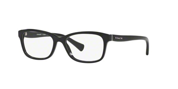 81ff3b3a667c HC6089  Shop Coach Black Rectangle Eyeglasses at LensCrafters