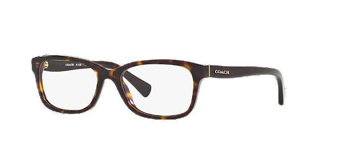 aa7e3f975593 HC6089  Shop Coach Tortoise Rectangle Eyeglasses at LensCrafters