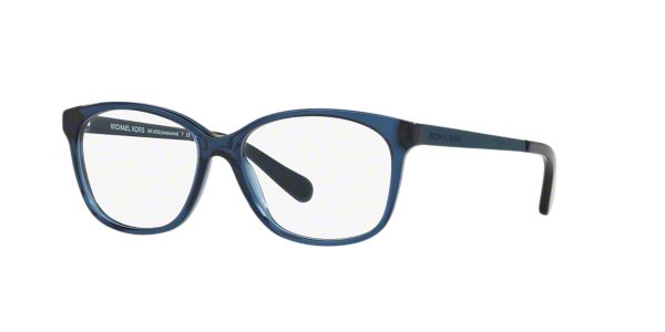 8e5918227c4 MK4035 AMBROSINE  Shop Michael Kors Blue Rectangle Eyeglasses at  LensCrafters