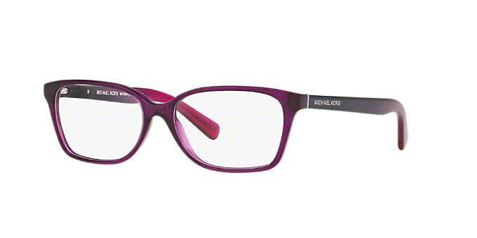 6ce52bf245c MK4039 INDIA  Shop Michael Kors Pink Purple Rectangle Eyeglasses at  LensCrafters