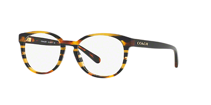HC6102: Shop Coach Black Round Eyeglasses at LensCrafters