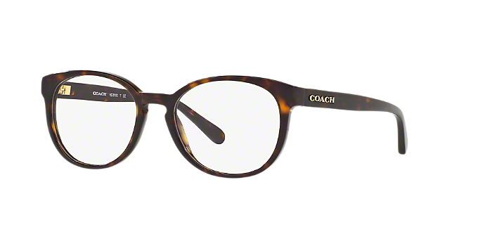HC6102: Shop Coach Tortoise Round Eyeglasses at LensCrafters