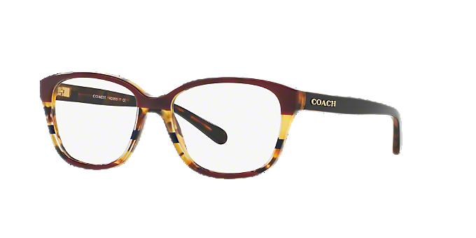 19d62f03f44d HC6103  Shop Coach Tortoise Square Eyeglasses at LensCrafters