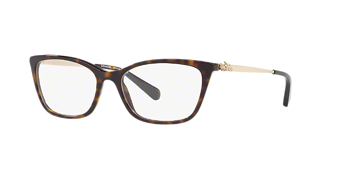 HC6107: Shop Coach Tortoise Rectangle Eyeglasses at LensCrafters