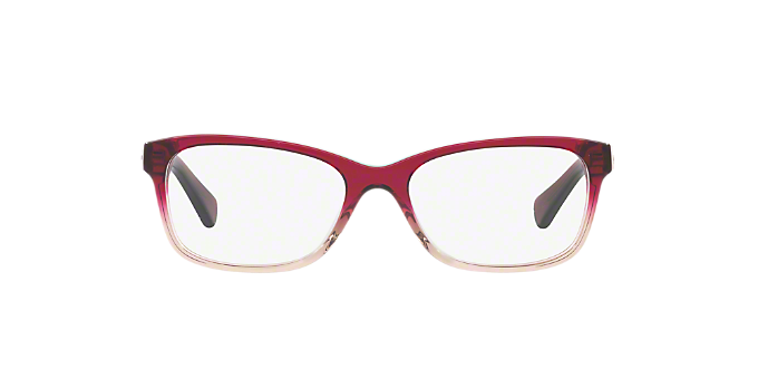 725c7ae37a9 HC6089  Shop Coach Red Burgundy Rectangle Eyeglasses at LensCrafters