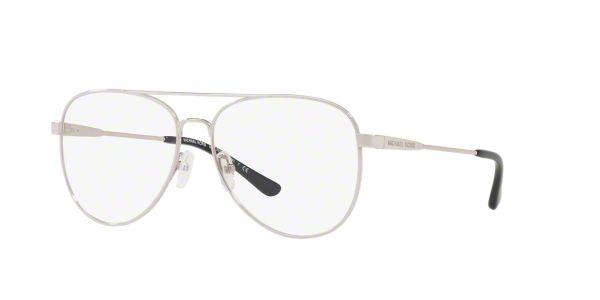 f4def5c715e MK3019 PROCIDA  Shop Michael Kors Silver Gunmetal Grey Pilot Eyeglasses at  LensCrafters