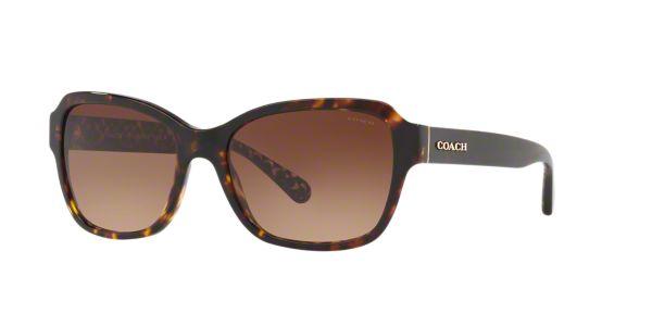 6ad3f44a558f HC8232 56 L1010: Shop Coach Tortoise Rectangle Sunglasses at LensCrafters
