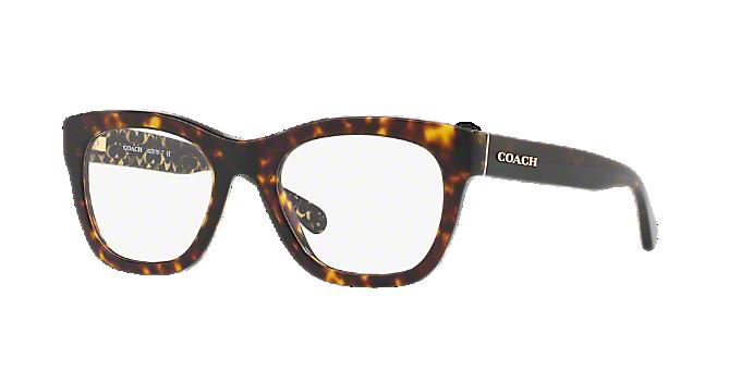 61046de2c800 HC6115  Shop Coach Tortoise Square Eyeglasses at LensCrafters