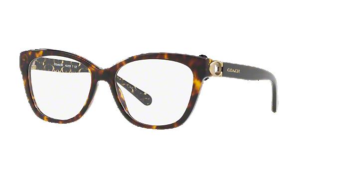 HC6120: Shop Coach Tortoise Square Eyeglasses at LensCrafters