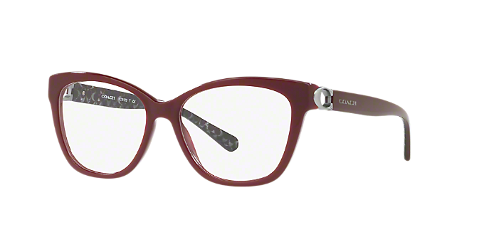 d089eb4f70a9e HC6120  Shop Coach Red Burgundy Square Eyeglasses at LensCrafters