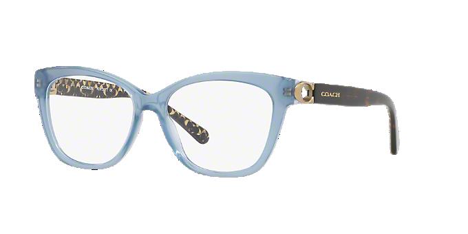 c66a380cacf88 HC6120  Shop Coach Blue Square Eyeglasses at LensCrafters