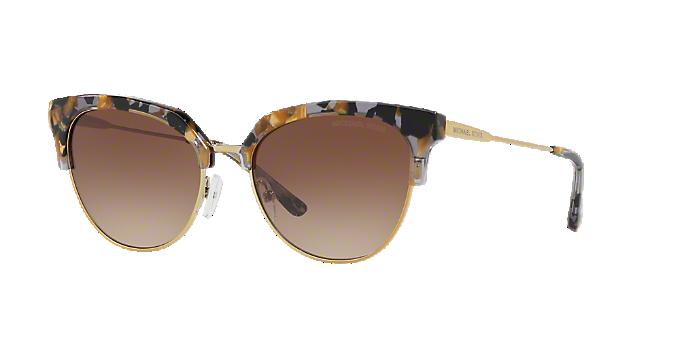 337f9fbede3 MK1033 54 SAVANNAH  Shop Michael Kors Black Geometric Sunglasses at ...