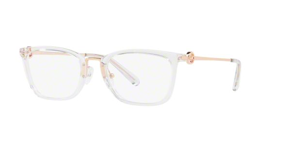e99c3c96155c8 MK4054 CAPTIVA  Shop Michael Kors Clear White Rectangle Eyeglasses at  LensCrafters