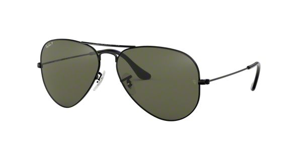 9e06d3eedad RB3025 58  Shop Ray-Ban Black Pilot Sunglasses at LensCrafters