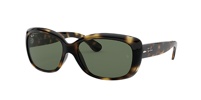 b9a25ac89f1 RB4101 58 JACKIE OHH  Shop Ray-Ban Tortoise Rectangle Sunglasses at ...