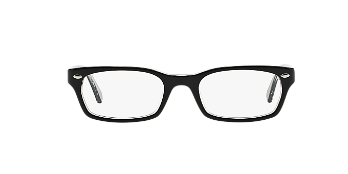 RX5150: Shop Ray-Ban Black Rectangle Eyeglasses at LensCrafters