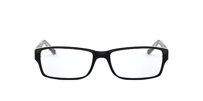 RX5169: Shop Ray-Ban Black Rectangle Eyeglasses at LensCrafters