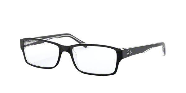 f096de010c RX5169  Shop Ray-Ban Black Rectangle Eyeglasses at LensCrafters