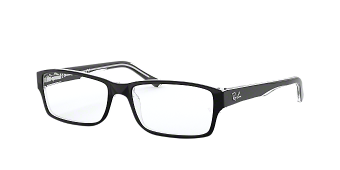 2ec390917a2c2 RX5169  Shop Ray-Ban Black Rectangle Eyeglasses at LensCrafters