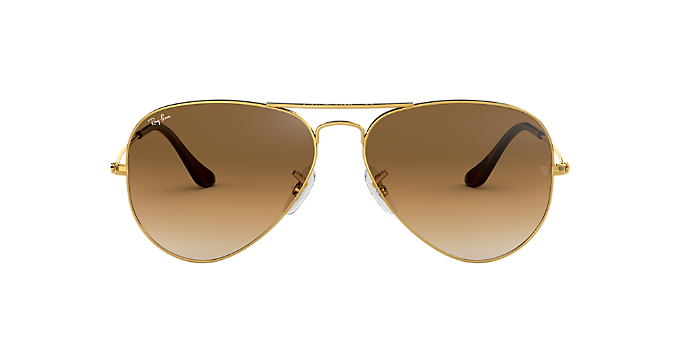 f4dcce4e7c RB3025 55 AVIATOR  Shop Ray-Ban Gold Pilot Sunglasses at LensCrafters