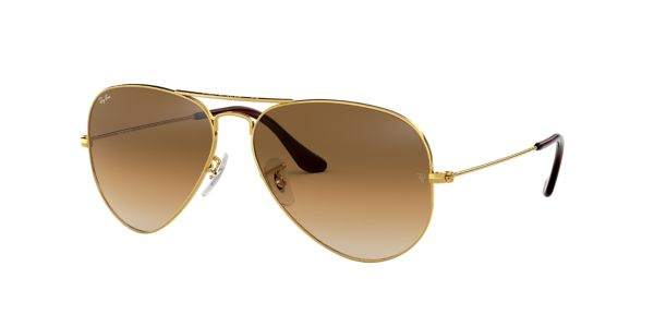 eced11a23c RB3025 55 AVIATOR  Shop Ray-Ban Gold Pilot Sunglasses at LensCrafters
