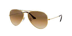31d56c45ce3bc RB3025 55 AVIATOR  Shop Ray-Ban Gold Pilot Sunglasses at LensCrafters