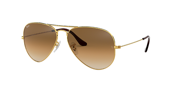c4ccda9a084 RB3025 58 ORIGINAL AVI  Shop Ray-Ban Gold Pilot Sunglasses at ...