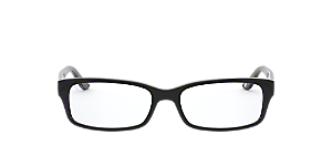 084f1276c5 RX 5187  Shop Ray-Ban Black Rectangle Eyeglasses at LensCrafters
