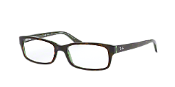 eee1bc168c RX 5187  Shop Ray-Ban Tortoise Rectangle Eyeglasses at LensCrafters