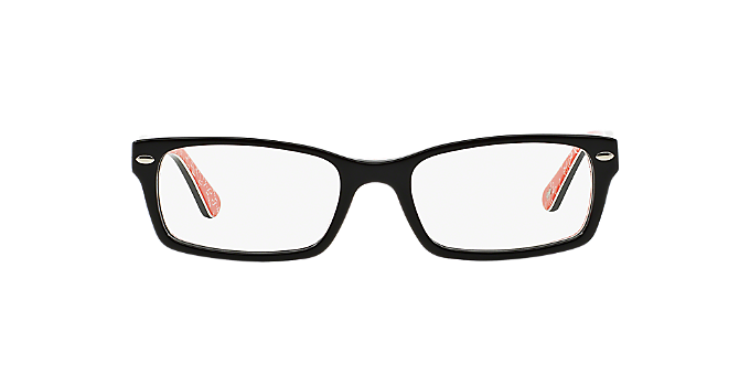 RX5206: Shop Ray-Ban Black Rectangle Eyeglasses at LensCrafters