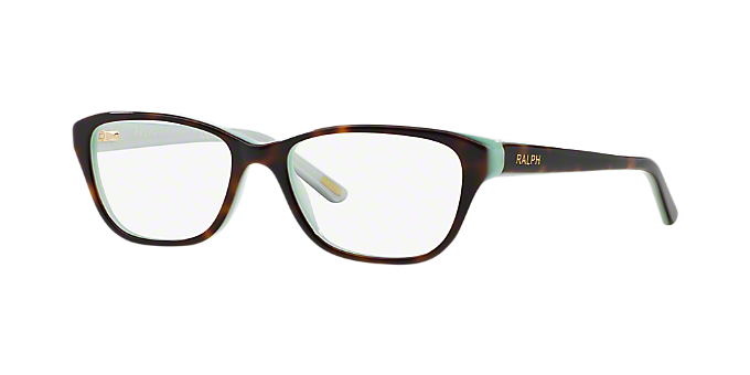 RA7020: Shop Ralph Brown/Tan Cat Eye Eyeglasses at LensCrafters