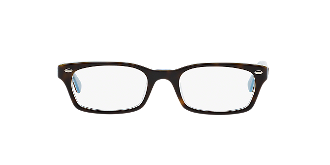 RX5150: Shop Ray-Ban Tortoise Rectangle Eyeglasses at LensCrafters